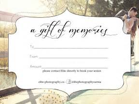 Gift Certificate Template For Photographers by Best Photos Of Photography Gift Certificate Template
