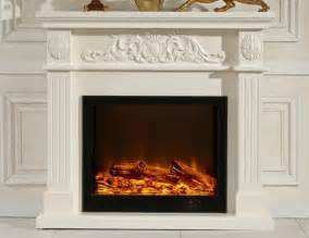 details of white decorative fireplaces led electric