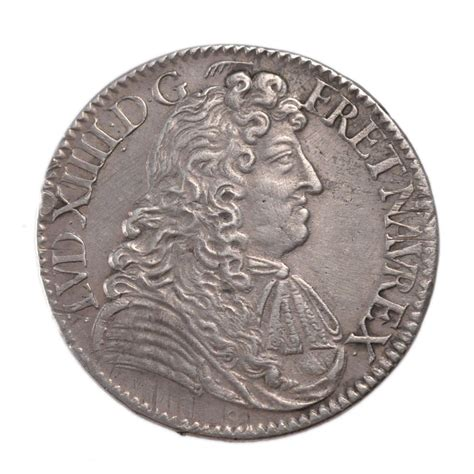 comptoir des monnaies 10333 louis xiv 189 ecu 224 la cravate ttb 1 2 ecu plus