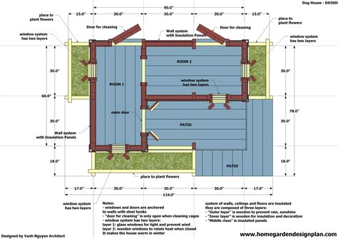 insulated dog house blueprints home garden plans dh300 dog house plans free how to