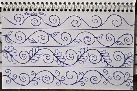 doodle termudah luann kessi sketch book border designs