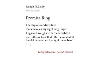 promise ring by joseph jr hello poetry
