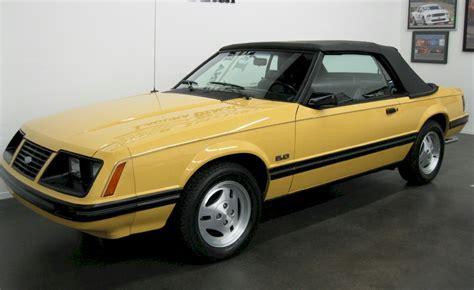 1983 mustang convertible medium yellow 1983 ford mustang glx convertible