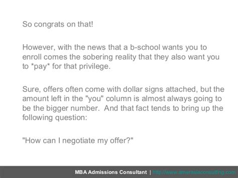 Can I Defer My Mba Acceptance For 2 Years by 5 Tips For Negotiating Your Offer Of Admission