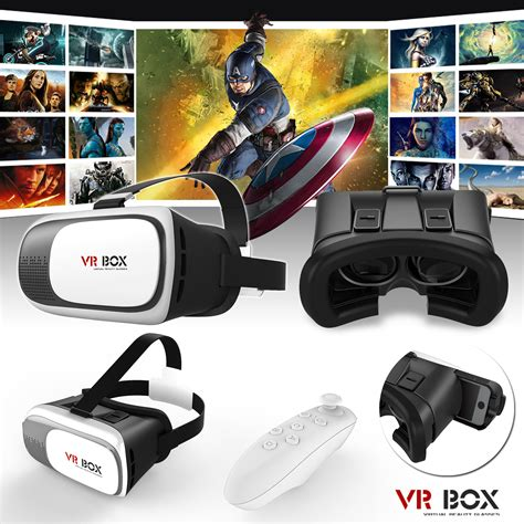 Vr Box Glasses Free Remote vr headset reality vr box goggles 3d glasses