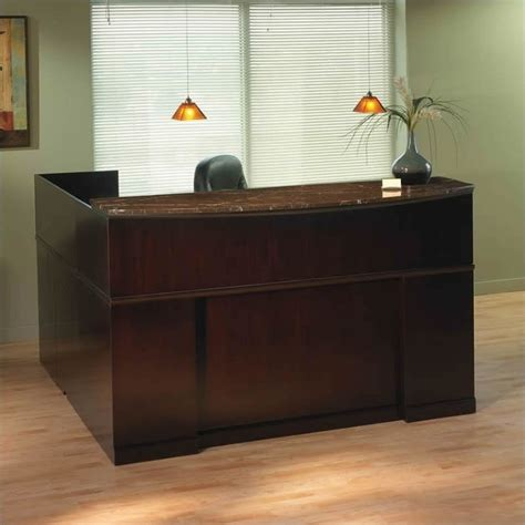 L Shaped Reception Desk Counter Mayline Sorrento Right L Shaped Marble Counter Reception Desk Srcsrm