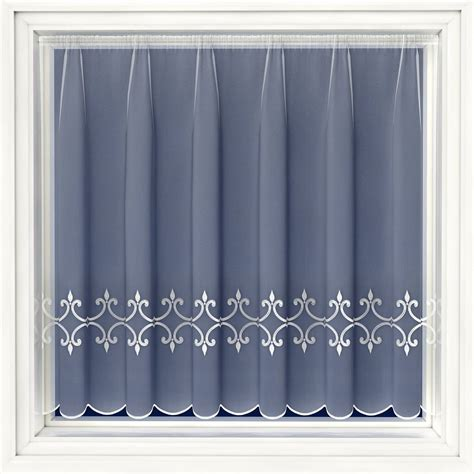 embroidered voile curtains uk regency white embroidered voile net curtain 2 curtains