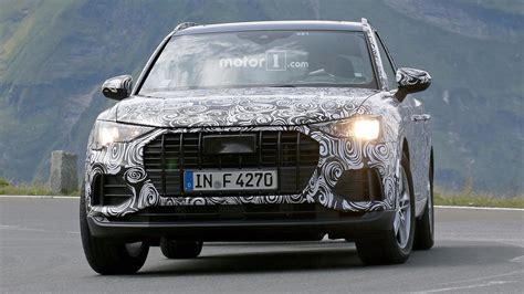 audi q3 2019 2019 audi q3 test driver smiles for the