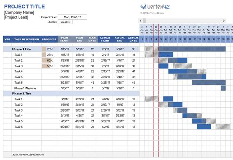 Excel Project Schedule Template by Project Management Templates Doliquid