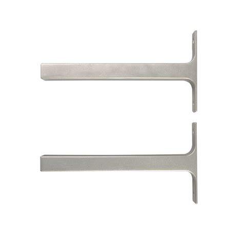 Deco Shelf Brackets by Everbilt 8 1 In X 1 In Platinum Bauhaus Deco Shelf