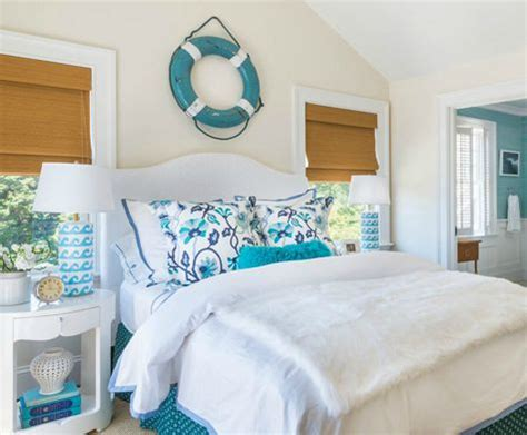ocean bedrooms blue and white wave table ls in an ocean theme bedroom