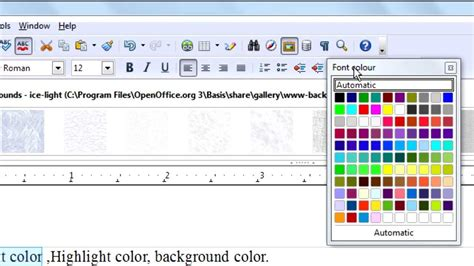text color changer openoffice org writer tutorial text color highlight color