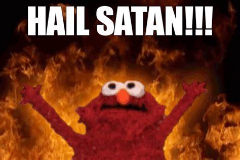 Satanic Home Decor by Elmo Hail Satan Gif By Jimifunguzz Photobucket