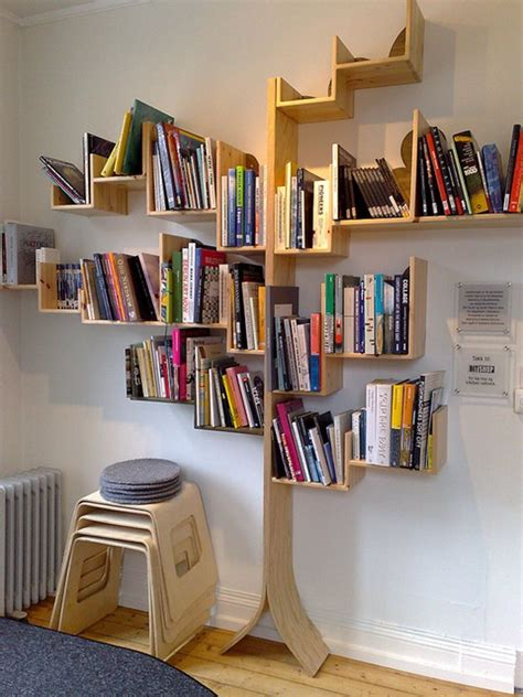 bookshelf designs inspired by trees home tweaks