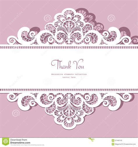 lace templates card cutout paper lace frame stock vector image 57440742