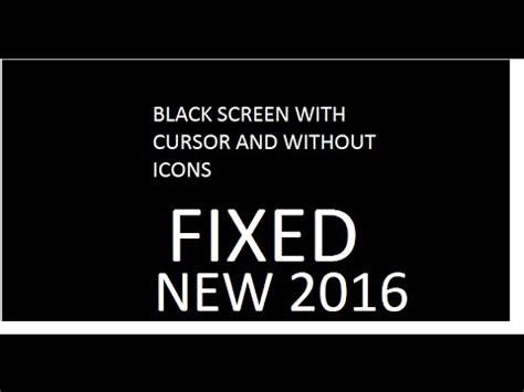 vista black screen white cursor fix