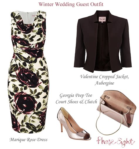 8 Ways To Wear Florals In Winter by Phase Eight Occasion Wear Floral Print Jersey Dresses