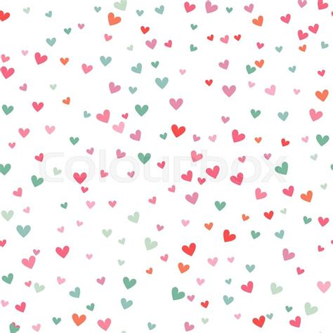 pattern heart vector romantic pink and blue heart seamless pattern vector