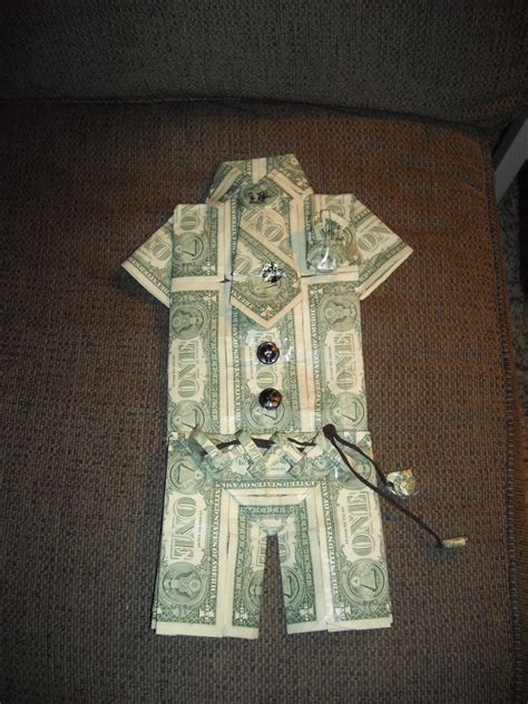 Dollar Bill Origami Shirt - money suit craft ideas
