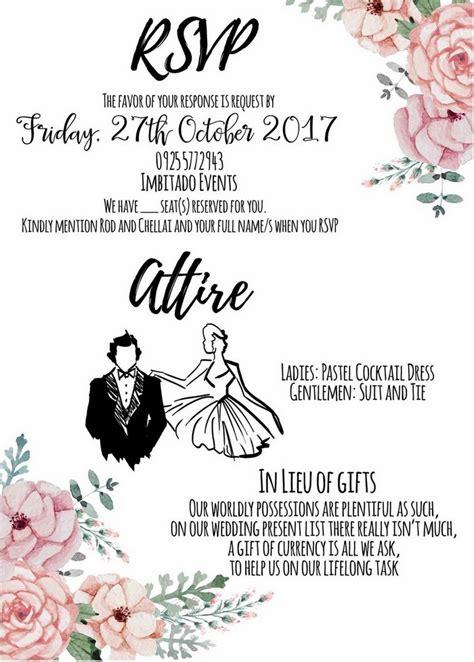 how to put attire in wedding invitation waw wedding tip sheet invitations weddings at work