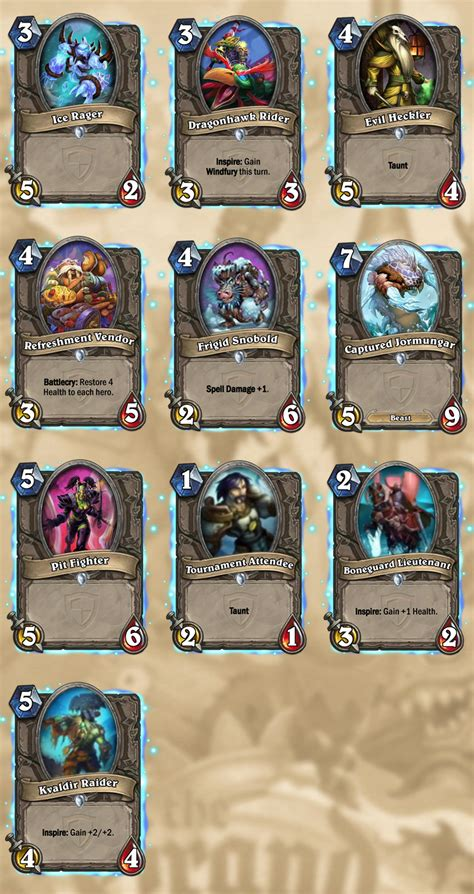 The Grand Gift Card - hearthstone the grand tournament has all cards revealed