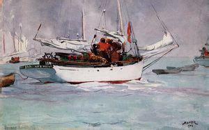 fishing boats key west by winslow homer fishing boats key west 1903 by winslow homer 1836 1910