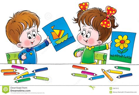Artists Stock Illustration Illustration Of Babies Baby 2961912 Children Drawing Pictures For Painting