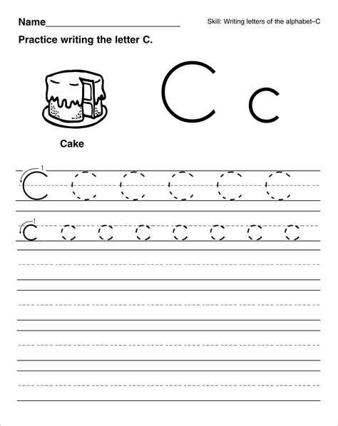 preschool printable worksheets letter c letter c worksheets for preschool kindergarten printable