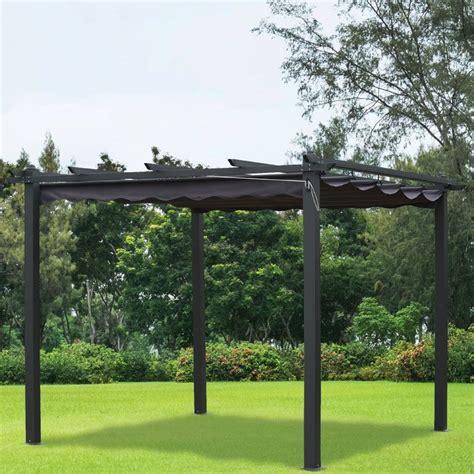 gazebo pergola 3x3 pergola gazebo charcoal summer outdoor garden canopy 3x3m