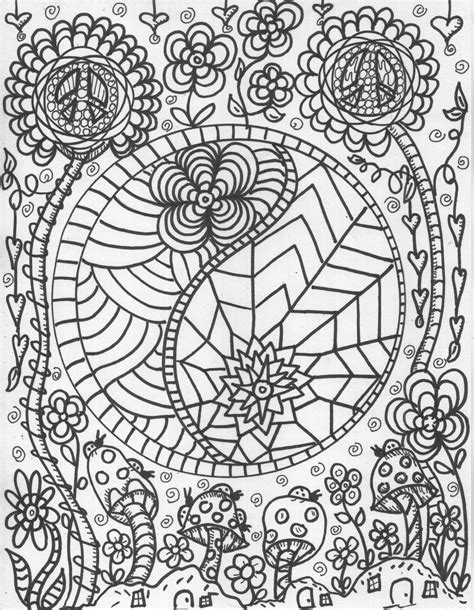 hippie coloring pages cool hippie coloring pages coloring home