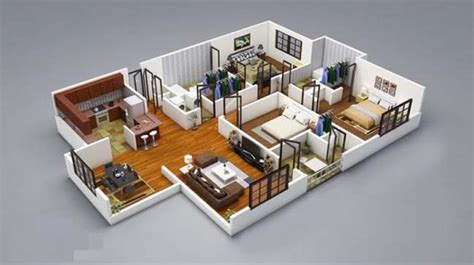 3d 3 bedroom house plans 17 three bedroom house floor plans