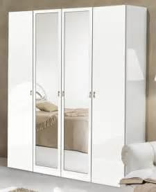 armoire 4 portes athena chambre a coucher blanc blanc