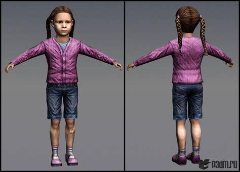 3d tiny girl little girl 187 pack 3d models
