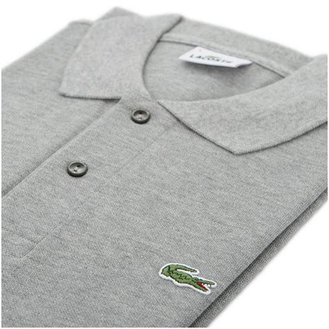 Aryabhazda Lacoste Poloshirt Gray 4 lacoste l1264 grey marl plain polo oxygen clothing