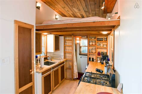 Tiny Galley Kitchen Design Ideas by Warm And Inviting Rustic Tiny House You Can Rent Tiny