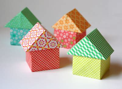 3d House Origami - origami houses how about orange