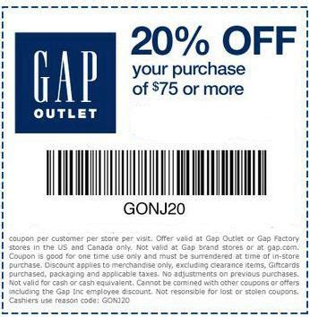 printable coupons gap outlet usa 40 off gap printable coupon autos post