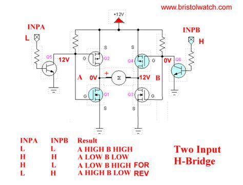 transistor mosfet h bridge h bridge motor using power mosfets