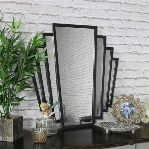 deco fan wall mirror black deco fan style wall mirror flora furniture