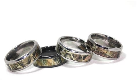 Titanium Buzz Realtree Camo Rings Featuring Comfort Fit