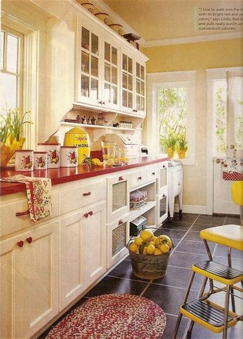 yellow and red kitchens pinterest