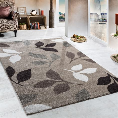 Teppiche 80x150 by Heavy Woven Rug Modern Rug Floral Design In Beige Brown