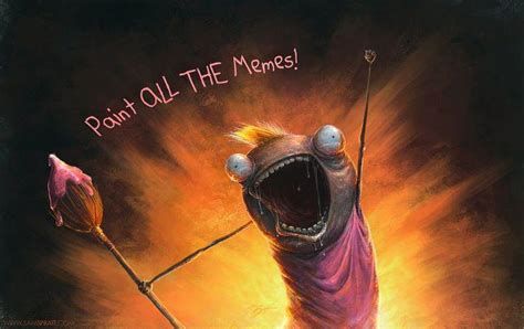 Painting Meme - art sci sam spratt has painted all the memes