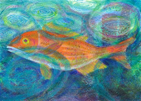 acrylic painting fish colorful fish heni s happy paintings