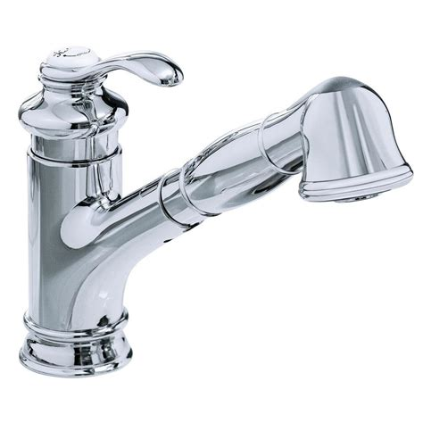kohler single handle pull out sprayer kitchen faucet in