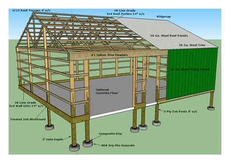 post frame home plans metal post frame house plans