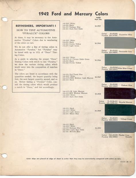 color codes ford paint cross reference paintrefcom autos weblog
