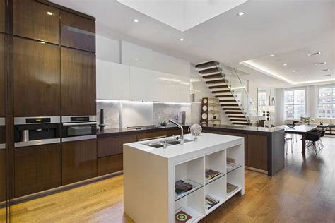 sophisticated contemporary kitchens with cutting edge design luxurious apartment building in nyc marries industrial
