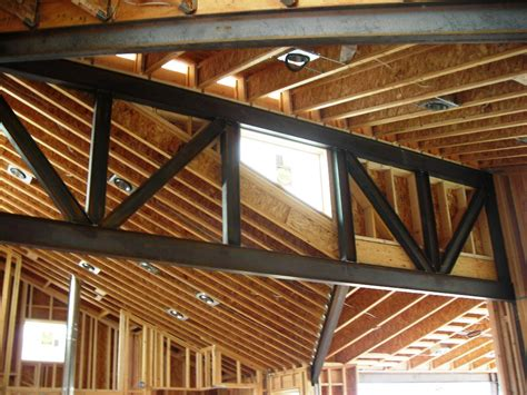 Steel Truss Design For Custom Home Evstudio Architect Engineer Denver Evergreen