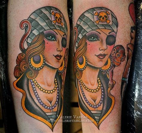 tattoo vargas girl 30 adventurous pirate tattoos tattoodo